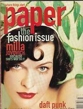 Paper Magazine Milla Jovovich Daft Punk Marc Jacobs March 2001 082819nonr