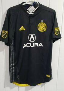 NEW Mens Adidas MLS Columbus Crew SC Acura Climacool Soccer Medium Jersey Black