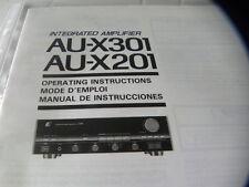 Sansui AU-X301 AU-X201 Owner's Manual  Operating Instructions Istruzioni New
