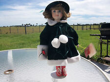 """Collectors Edition 1994 16"""" Porcelain Doll W/ Stand By Holiday Treasures Great C"""