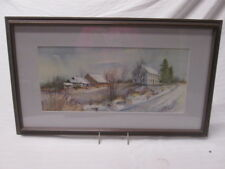 "The ""Old Tenny Place"" Princeton MA Orig. Watercolor Marilyn S Pratt Signed"