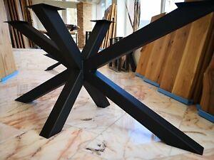 Tischuntergestell KX-80 140cm×70cm Tischgestell Kreuzgestell Industriedesign