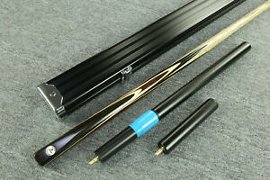 """Grand""  Emperor Series 1 pc Ash Shaft Black Ebony Handmade Snooker Cue Set@1607"