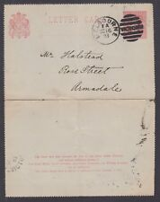 Victoria H&G A4 used 1893 Letter Card to Armadale