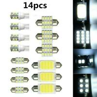 14Pcs LED Car Interior Inside Light Dome Trunk Map License Plate Lamp Bulb Lot