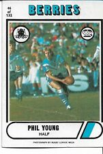 1976 PHIL YOUNG CANTERBURY BERRIES SCANLENS RUGBY LEAGUE CARD #46