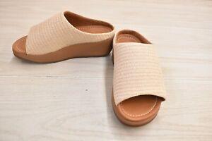 FitFlop Imogen Basket F0030 Weave Slide Sandal - Women's Size 5 M, Stone NEW
