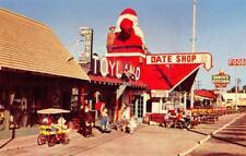 Santa Claus, CA Toyland, Post Office Roadside c1950s Vintage Christmas Postcard