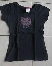 HELLO KITTY Tshirt noir motif strass M