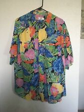 Guess By Georges Marciano Bright Floral Vtg Button Down Mens Large