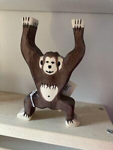 Holztiger Chimpanzee Standing Wooden Toy Animal