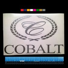"""Large COBALT BOATS Marine HQ Decal 12"""" - Silver Metallic + more"""
