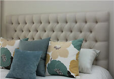 BED HEAD DOUBLE SIZE DIAMOND PLEATED BUTTONED UPHOLSTERED BEDHEAD/ HEADBOARD