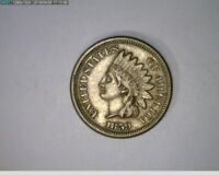 1859  1c Indian Head Cent old penny  ( 19-300 M5 )