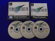 ps1 FINAL FANTASY 7 VII *VGC* Boxed COMPLETE PAL Playstation ps2 ps3