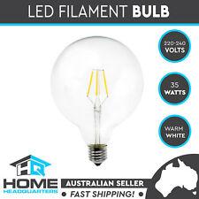 G125 Light Bulb E27 LED Filament Vintage Style Screw 4w Clear Glass Warm White