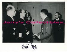 Erich Topp signed photo,receiving Oakleaves. U-Boat Ace. U-552