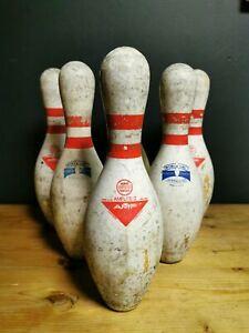 AMF Ten pin bowling pins vintage retro decor