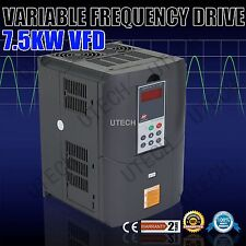 NEW 7.5KW 220V 10HP 33A SINGLE PHASE VFD VARIABLE FREQUENCY DRIVE INVERTER TOP
