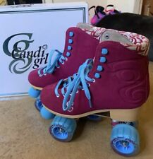 Roller Derby Candi Girl Carlin Quad Artistic Roller Skates Berry Ladies sz 9