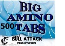 BCAA + GLUTAMINE 5000mg 500 Tablets Mega Amino Acids PROTEIN  BODYBUILDING PACK