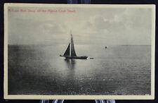 Postcard A Cape Ann Sloop Off The Pigeon Cove Shore Sail Boat Mass Ma