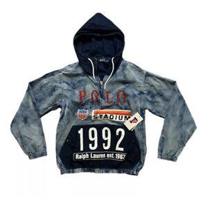 Polo Ralph Lauren Men's 1992 Indigo Stadium Oversized Pullover Jacket Size M