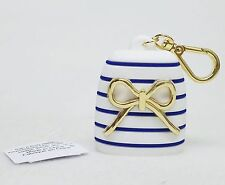 Bath Body Works BLUE STRIPE GOLD BOW Pocketbac Sanitizer Hand Gel Case Holder