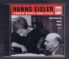 IRMGARD ARNOLD SINGS EISLER CD NACH TEXTEN VON BRECHT SILONE...