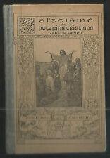 Libro antiguo del Catecismo andachtsbild santino holy card santini