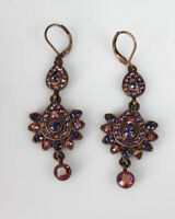 Crystals of Pink & Purple, Earrings from Joan Rivers Collection, Leverback