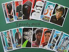 Topps Star wras Force coronó despertar el poder todos 160 tarjetas de base completo