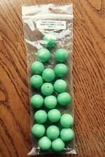 """Lot of (20) Green Composite Turquoise 3/4"""" Round Beads Drilled (Gaspeite Color)"""