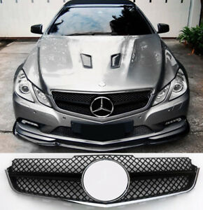 Mercedes E class coupe convertible w207 c207 a207 2009-13 AMG Grill GLOSS BLACK