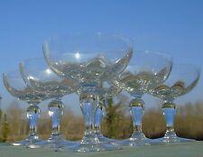 Thouvenin? Portieux? Service de 6 coupes à champagne verre soufflé. Début Xxe s