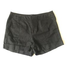Daisy Fuentes Moda Black Shorts Size 6 Cuffed Chinos Business Casual Work