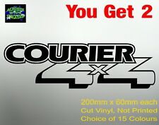 COURIER 4X4 Stickers gearbox bullbar Ute Decal for Ford 200mm (x 2)