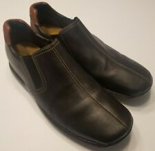 COLE HAAN ZENO Slip On Black Leather Driving Loafers Shoes C24673 Mens 10 M EUC