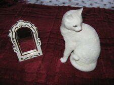 Lenox Admiration and Mirror Porcelain Cat Figurine-MINT!