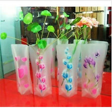 Foldable Plastic Unbreakable Reusable Flower PVC Durable Vase Home Wedding Decor
