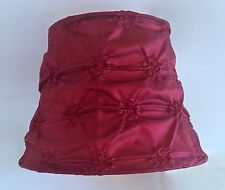 French Style Fabric Lamp Shade~Burgundy~Silk?
