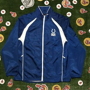 Indianapolis Colts Reebok Authentic Sideline Size Med Pullover Windbreaker NFL
