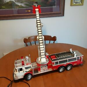 Large Rescue Boom Fire Engine Truck #55 – Wired Remote Control1988 New Bright