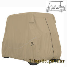 "KHAKI 6-PERSON GOLF CART STORAGE COVER 124"" ROOF E-Z-GO, CLUB CAR, YAMAHA Others"