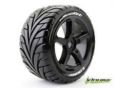 """Louise RC T-Rocket 1/8 Truggy Tires 0"""" offset Spoke Rim Mouted (2pcs) L-T3250B"""