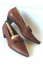 PAUL GREEN * AUSTRIA * POINTY LOAFER/PUMP IN BROWN CALF / SZ: 6 UK / SUPERB