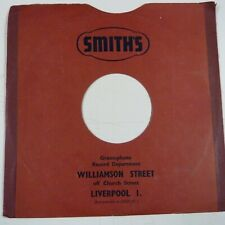 "10"" 78rpm gramophone record sleeve SMITH's Williamson Street Liverpool"