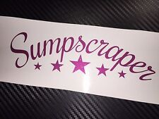 PINK FLAKE Sumpscraper Car Sticker Decal JDM Drift VDUB Stance Low Air Bagged