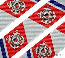 "High Quality 1"" United States Coast Guard Hair Bow Printed Grosgrain Ribbon"