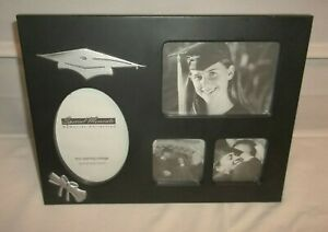 Special Moments Black Graduation Photo Four Opening Collage Frame EC!